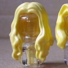 LEGO® blonde minifigure wig (long wavy light yellow mermaid female hair series 9