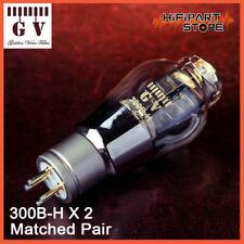 2pcs Golden Voice GV 300B-H Matched Pair Valve Tube WE300B Replica Version