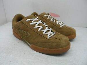 Duffs Men's Low-Cut Hustler Casual Skate Shoes Brown Leather Size 12M
