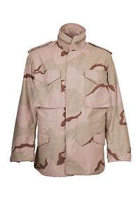 M65 USA COMBAT JACKET Genuine Issue Parka Field Coat Tri 3colour Desert Camo NEW
