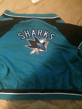 NEW * SAN JOSE SHARKS JACKET* NEW WITH TAGS * MENS SIZE XL*3 FOUR BY GRILL SPORT
