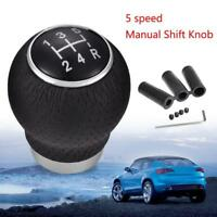 Universal Car 5 Speed Leather Gear Shift Knob Stick Manual Shifter Lever  Dwwj