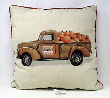 Brentwood Harvest Pumpkin Truck Decoration Pillow 1 Count