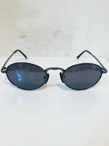 90's OVAL Men's/ Unisex Gun Metal Sunglasses Unused Deadstock