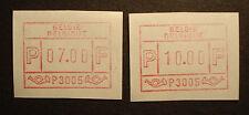 Bélgica 1981: 2 Frama etiquetas, SFS MN 1, m. autómatas-nº p 3005, correos frescos