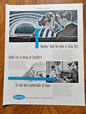 1947 Carrier Air Conditioning Ad Stole Show at Radio City Dining @ Stouffer's