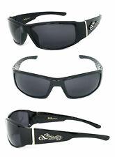 Choppers Biker Mens Designer Sunglasses Black Frame Smoke Lens