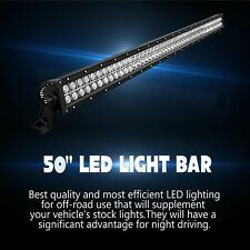 50Inch 288w LED Light Bar Spot Flood Work Lamp 4WD Boat UTE Driving ATV Jeep Car