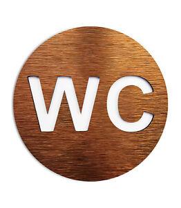 WC Door Symbol - Bathroom signage - Unisex round restroom sign - Toilet Decal