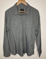 prAna Men's Ascension Roll Tab Long Sleeve Travel Shirt Tech Gray - Large LNWOT