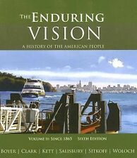 The Enduring Vision Vol. 2 : since 1865 ISBN 978-0-618-80162-6