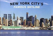 Grenada 2016 estampillada sin montar o nunca montada famoso horizonte de la ciudad de Nueva York NY2016 1 V S/S edificios sellos
