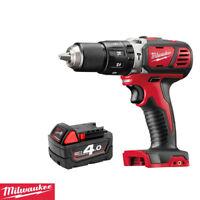 Milwaukee M18BPD-0 18V 60Nm RED Li-ion Combi Hammer Drill + 1 x  4.0Ah Battery