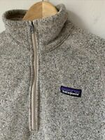 Womens Patagonia Better Sweater Medium Gray 1/2 Zip EUC