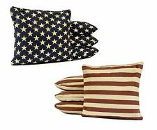 Stars and Stripes Distressed - All Weather Cornhole Bags! - Resin Filled!