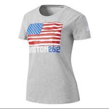 Adidas Women's US Flag Boston 262 Tee Crew Neck Short Sleeve Regular Fit T-Shirt