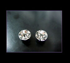 1 Pair Unisex 4mm Clear Magnetic Clip On Stud Earring, Party Fun gift