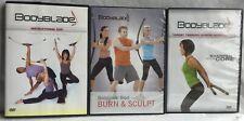 3 Bodyblade workout DVD lot Blast Burn Sculpt instructional sharpen your core