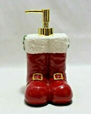 Croscill Santa Claus Red Boots Resin Lotion Soap Dispenser New With Tags