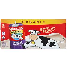 Vanilla Milk Horizon Organic Lowfat 8 Fl Oz 18 Count Kosher Free Shipping