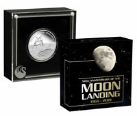 2019 P Aust Apollo 11 Moon Landing 1 oz Silver $1 Proof UC OGP SKU58119