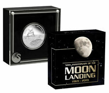 2019 P Aust Apollo 11 Moon Landing 1 oz Silver $1 Proof UC OGP SKU58119