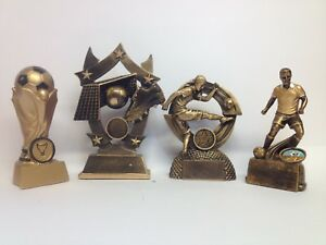 Football trophy/trophies -  4 pack bundle - Free engraving - Medium size.