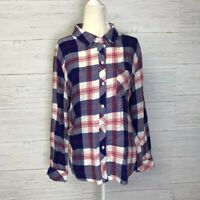 RAILS Hunter Plaid Flannel Button Down Womens Size Small Blue Red