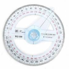 10cm Plastic 360 Degree Pointer Ruler tractor Swing Arm School Supply 2018