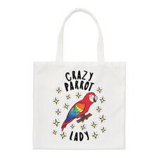 Crazy Parrot Lady Stars Small Tote Bag - Funny Animal Bird Shoulder Shopper