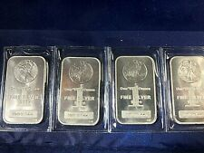 """4OZ IN LOT-EACH BAR 1OZ SILVER""""WALKING LIBERTY""""ALL WRAPPED IN PLASTIC UNTOUCHED"""