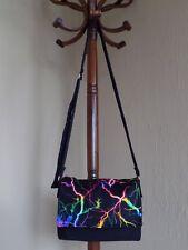 Bolso messenger pequeño rayos de colores hecho a mano