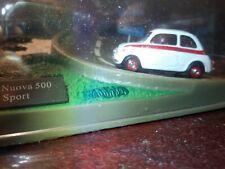Fiat 500 Sport bianco modellino Diorama Altaya 1/43 (219)