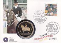 Numisbrief Deutschland Josef Neckermann 1992 Briefmarke Sonderstempel Berlin