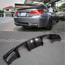 GTS Look Carbon Fiber For BMW E93 E92 M3 Rear Bumper Diffuser Quad Tips 2008-13