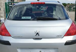Peugeot 308 Mk1 5dr 2008-13 Tailgate Bootlid with Rear Glass Aluminium Grey EZR