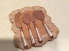 Artistic Accents 4 piece solid copper cheese knife set NIP