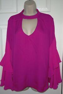 Womens🦋AUTOGRAPH M&S🦋fuchsia open back blouse size 18