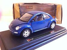 B Burago (Bijoux collection) - Volkswagen New Beetle 1998 bleue (1/24)