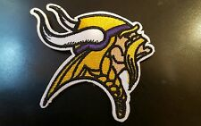 "MINNESOTA Vikings embroidered iron on patch 3"" x 2"" NFL FOOTBALL TEAM  LOGO"