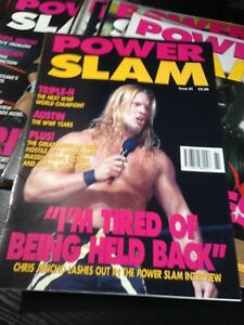 WWE Power Slam Magazine # 61 CHRIS JERICHO WWF Wrestling Magazine + Poster