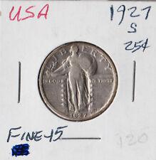 USA 1927-S | Standing Liberty Quarter 25 Cents | FINE