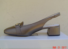NEW ANNE KLEIN BROWN BRONZE LEATHER SLINGBACK PUMPS SIZE 8.5 M $80