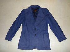 Mens Vintage 1970s Dark Denim Blazer Sport Coat Jacket Fox Run Sz 38