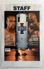 ROY JONES, JR. VS DERRICK HARMON -- BOXING STAFF CREDENTIAL PASS 2001, TAMPA, FL