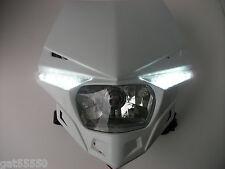 Nuevo UFO camino legal Faro Enduro Streetfighter KTM SX EXC blanco Lc4 4t XC SMC