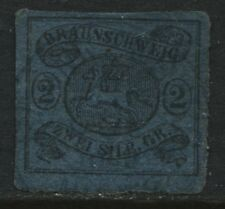 Brunswick 1852 2 silbergroschen blue used