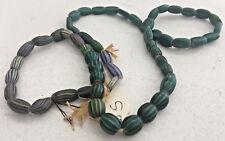 "Antique African Italian Trade Bead Necklace #S 55 Beads 26"" Millefiori Chevron"
