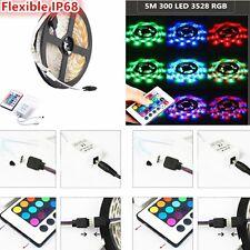 5M 300 SMD 3528 Waterproof Flexible RGB LED Strip Lighting + Receiver+ 24 Key IR