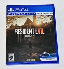 Replacement Case (NO GAME) Resident Evil 7 Biohazard Playstation 4 PS4 Box